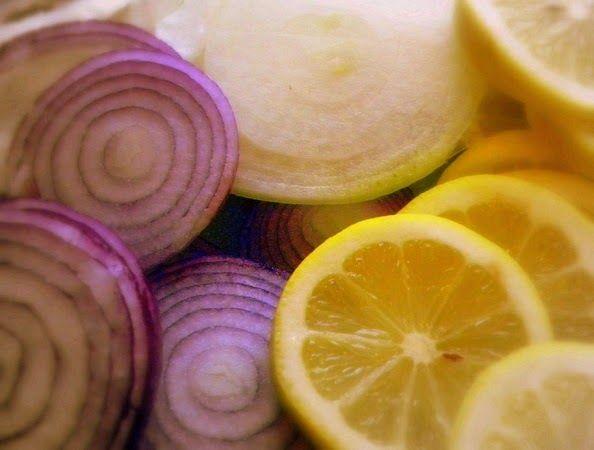 Suco de cebola e limão